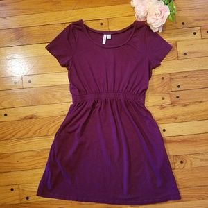 Dresses & Skirts - Cinched waist purple summer dress